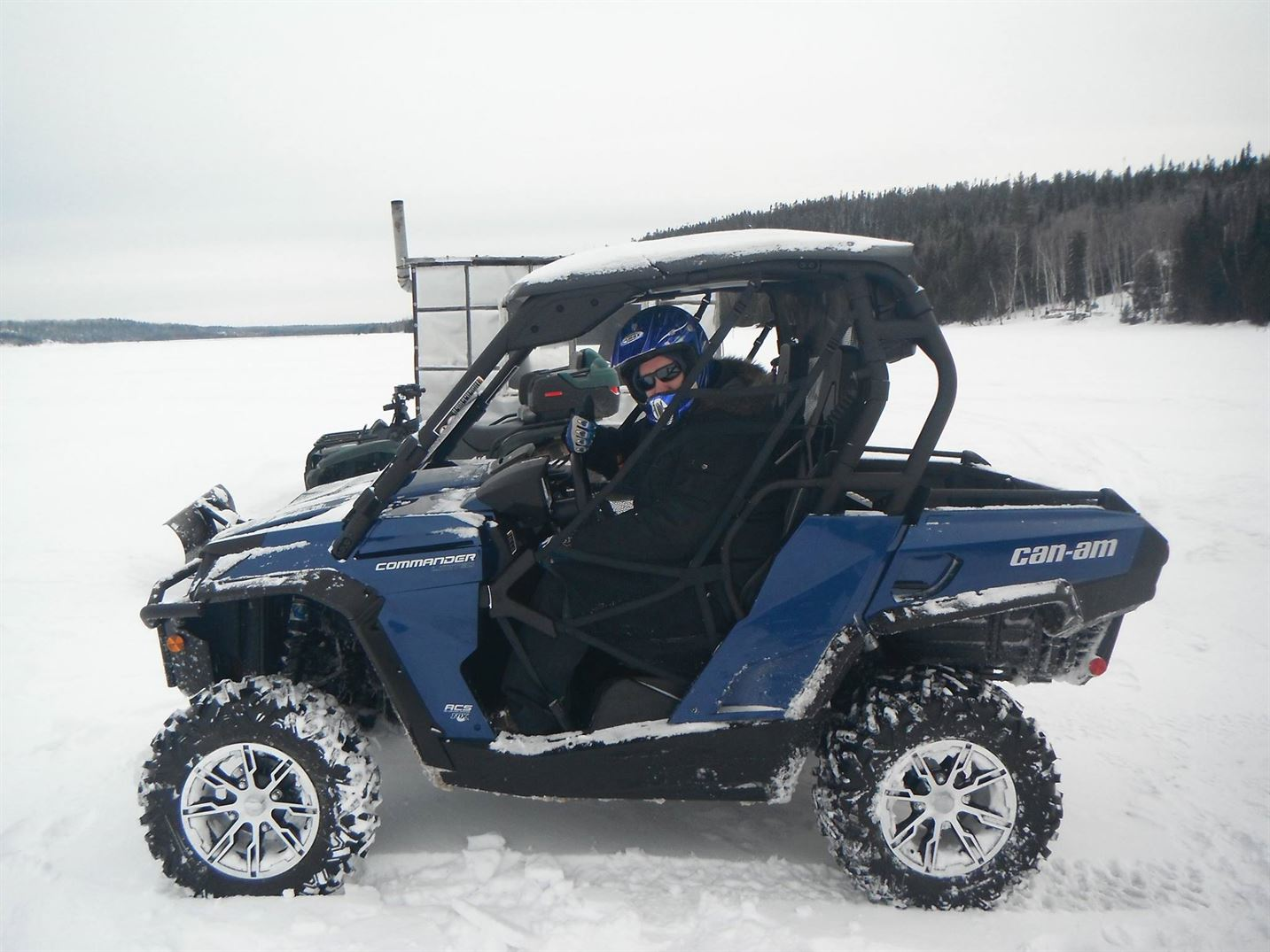 WinterQuading on Larder Lake Original